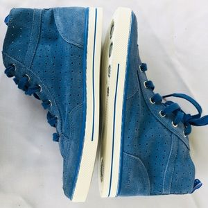 Coach blue suede sneakers. Size 8.5M